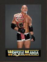 Bill Goldberg Wrestling Legend Display Mounted Photograph A4 Retro Gift