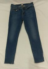 "Womens J Crew Factory Medium Miller wash skinny ankle jeans Sz 27 - 28"" inseam"