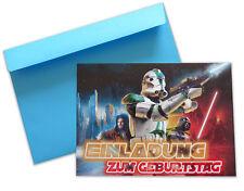 Einladungskarten mit Umschlag STAR WARS Kindergeburtstag Party