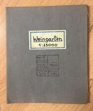 Seltene ur-alte 1:25.000 Landkarte von 1914 - Weingarten