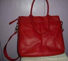 Large Red Pebbled Leather Bodhi Travel Bag