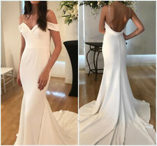 Modest Mermaid Backless Sweetheart Off the Shoulder Wedding Dresses Bridal Gowns