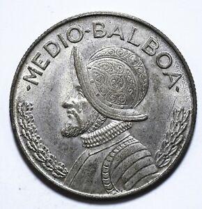 1962, Panama, 1/2 Balboa, Republic, Silver, UNC, KM# 26, Lot [1640]