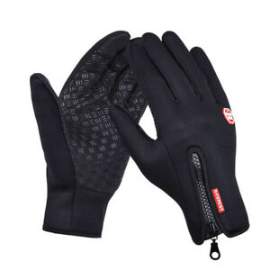Leather Cycling Gloves Windstopper Soft Warm Winter Motorcycle Biking Gloves New