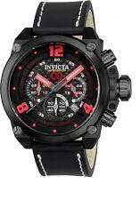 New Mens Invicta 23459 Corduba  Black Red Chronograph Watch