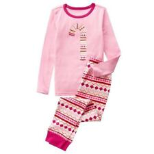 NWT Crazy 8 by Gymboree Size 6  Girls' Candy Cane Tight-Fit 2 Pc. Sleepwear
