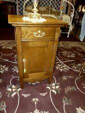 "Antique Oak nightstand washstand bureau dresser 1900's refinished 19"" wide"