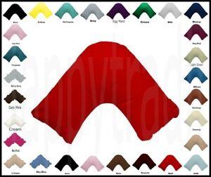 21 Multi Color U Shape / Tri / Boomerang Pillowcase 280TC Poly Cotton Free Post