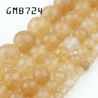 4/6/8/10/12mm Wholesale Yellow Citrines Quartzs Loose Beads for Jewelry Making