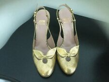 moschino shoes 39.5 Floral Purple  And Gold Shoes Selling 2 PRs 1 Price
