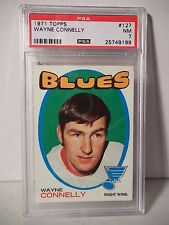 1971 Topps Wayne Connelly Graded PSA NM 7 Hockey Card #127 NHL Collectible