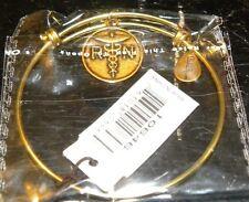 Bella Ryann Expandable Bracelet RN Nurse Charm Gold Color                    *