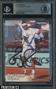 Roger Federer Signed 2003 Netpro Tennis #11 AUTO BGS BAS Authentic