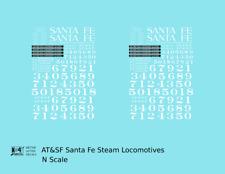 K4 N Decals Santa Fe Steam Locomotive White