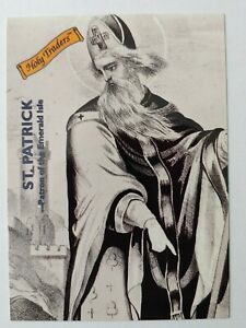 ✟ HOLY TRADERS Saint PATRICK (Ireland) (1993 Aziriah Co) Catholic Trading Card