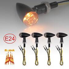 4X INTERMITENTES LED E24 Moto Bullet Mini Indicador ámbar Lámpara M8 Universal