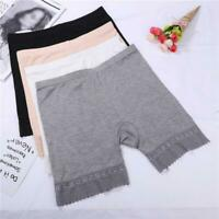 Women Soft Stretch Lace Under Shorts Seamless Leggings Skirt Safety Pants Dress
