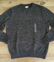 SONOMA Mens Classic-Fit Brown Marled Cotton Blend Crew Neck Sweater Size XL NEW