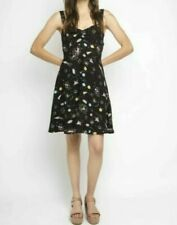 Compania Fantastica Black Space Print Dress uk size xs #6