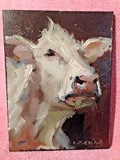 KYLE BUCKLAND   GLACIER  COW FARM ANIMAL IMPRESSIONISM  ORIGINAL OIL PAINTING