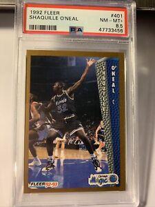 1992 Fleer Shaquille O'Neal #401 Rookie RC Orlando Magic PSA 8.5 NM-MT+