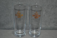 Pair Of Old Speckled Hen Half Pint Glasses Vintage Retro Rare Beer Glass New