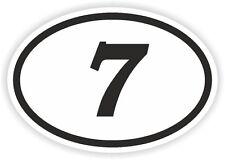 7 Seven Sept número Oval pegatina de parachoques calcomanía auto Motocross Motocicleta aufkleber