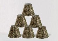 "Urbanest Mini Chandelier Lamp Shades 6-inch,Hardback,Cheetah,3""x6""x5"",Set of 6"
