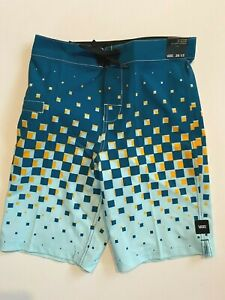 "Vans New Checker Fade 18"" Boardshorts Youth Boy's Swimwear Trunks 26/12"