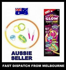 20 x Mix Glow Sticks Set PARTY Pack Bulk Party Christmas Glow in the dark Toys