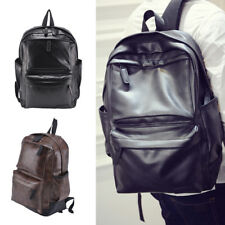 Men Women Leather Black Backpack Satchel Rucksack Shoulder Fashion School Bag