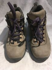 Vasque Women's New Tan And Purple Leather Hiking Boots Size 6/36