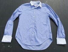 Mens BAND OF OUTSIDERS Blue French Cuff Button Shirt Small 1 Made in ITALY