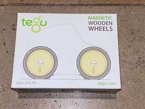 Tegu Magnetic Wooden Wheels Blocks 4 Pieces BRAND NEW IN BOX