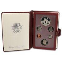 1984 United States US Mint Prestige Proof Set 90% Silver with Original Box & COA