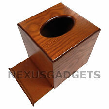 Oak TISSUE BOX COVER Wood Holder -Facial Boutique Classy Bathroom Bedroom Decor