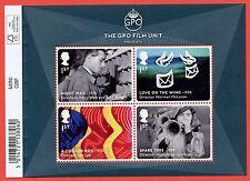 2014 Ms3608 Great British Film - The Gpo Film Unit Minisheet - Barcode Margin.