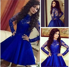Lace Applique Prom Pageant Graduation Dresses Cocktail Formal Homecoming Gowns