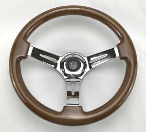 Tokyo Tom's Otaru Wood Classic 350mm Steering Wheel Fit NRG VERTEX ND
