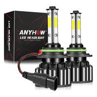 4-Side 9005 9145 HB3 LED Headlight Kit 200W 20000LM Hi-Lo Beam Bulb 6000K White@
