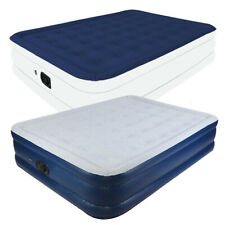 Inflatable Double High Raised Air Bed Mattress With Built-In Quick Pump Airbed