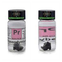 > ~ 1g Praseodymium Metal Element 59 Pr Pieces 99,9%, in Vial Size-