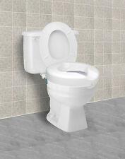 Safe Lock Raised Toilet Seat Elevated Carex Standard Elongated Safety B31300