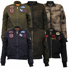 Ladies MA1 Badge Jackets Brave Soul Womens Harrington Bomber Padded Army Camo
