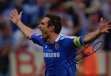 Frank Lampard Signed 12X8 PHOTO Genuine CHELSEA F.C Munich 2012 AFTAL COA (1660)