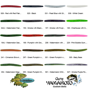 Yamamoto Senko 3 Inch SLIM (9B-10) Stick Bait Finesse Worms Any 20 Color Lures