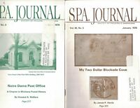 SPA Journal 1978 Full Year Stamps Confederate McKinley Error