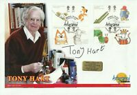 10 JAN 2006 ANIMAL TALES FDC HAND SIGNED BY ARTIST PRESENTER TONY HART SHS