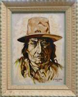 Vintage J Reed Sims Original Oil Painting on Canvas Artist Signed and Dated 1977