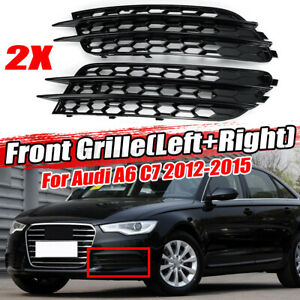 For Audi A6 C7 Sedan 2012-2015 Honeycomb Style Mesh Fog Light Grill Grille #